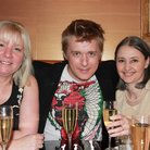 Jonathan Ansell and competition winners take tea
