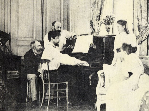 debussy playing piano
