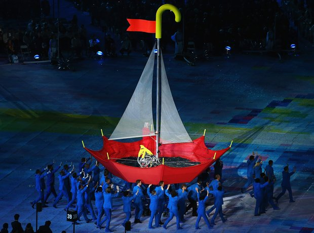 Paralympic opening ceremony boat