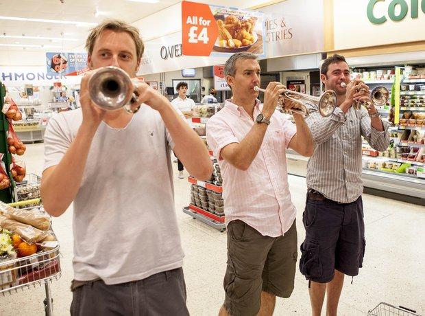 Brass play Handel in Classic FM Flash Mob