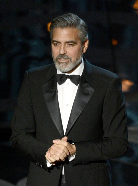 George Clooney on stage at the Oscars 2013 Awards