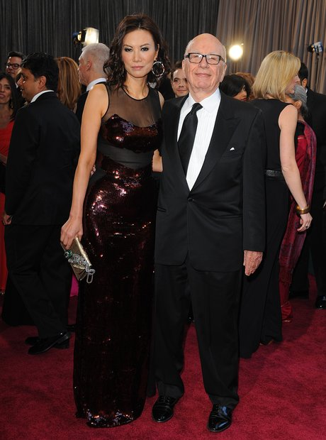 Rupert Murdoch and Wendi at the Oscars 2013 red ca