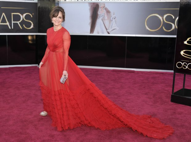 Sally Field at the Oscars 2013 red carpet