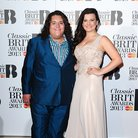 Jonathan and Charlotte at the Classic Brit Awards