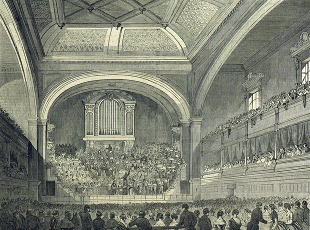 Liverpool Philharmonic Hall original interior