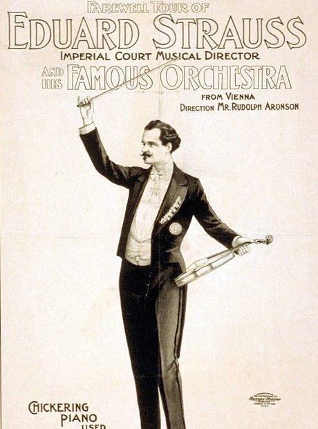 Eduard Strauss concert poster