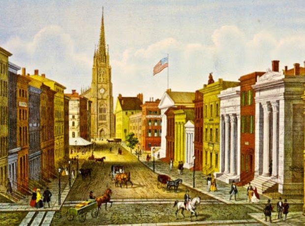 New York nineteenth 19th century Wall Street