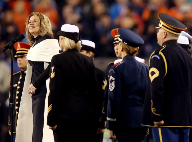 Renee Fleming at the Super Bowl