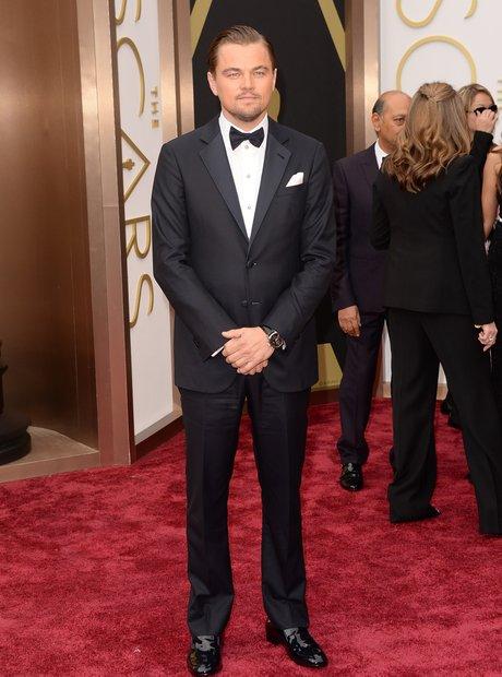Leonardo DiCaprio at the Oscars 2014 red carpet