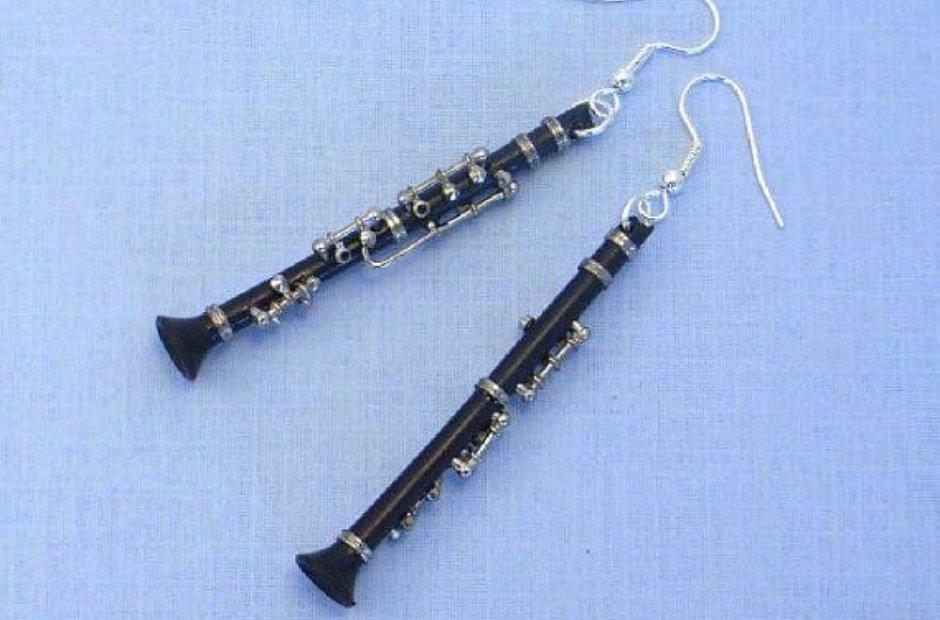 clarinet earrings
