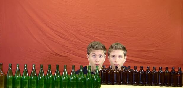 Bach beer bottles