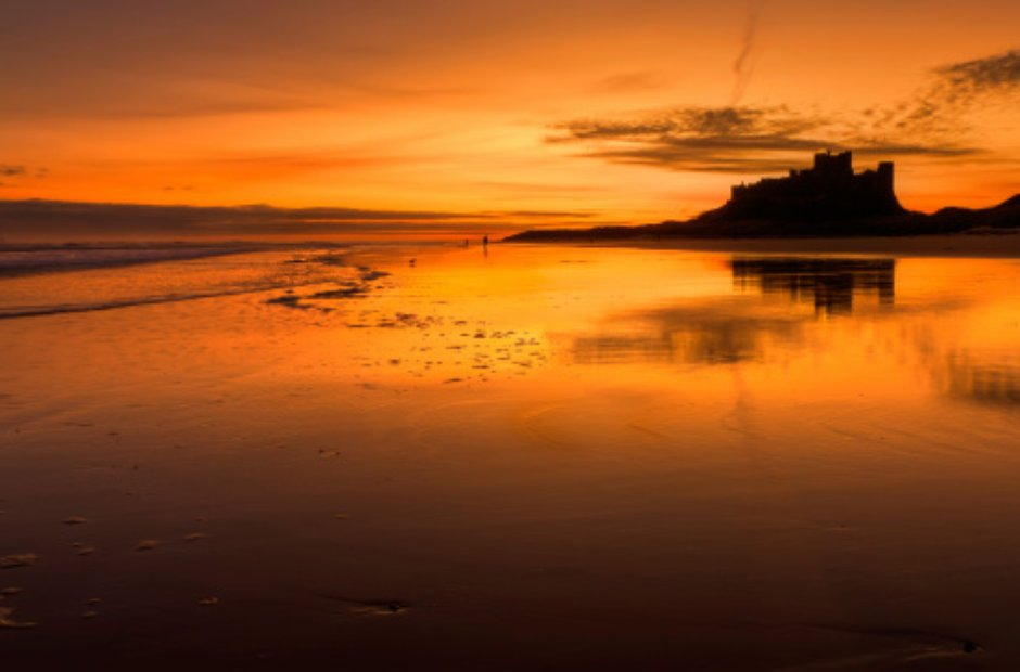 Sunrise Bamburgh Castle Northumberland