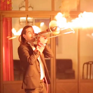 trombone flamethrower