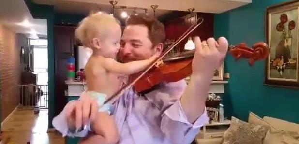 Dad plays son Bach