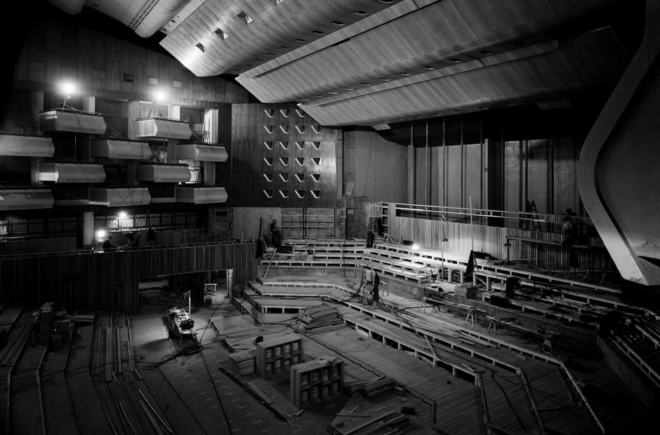 Southbank Centre London Royal Festival Hall construction interior