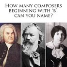 Composers beginning with B square