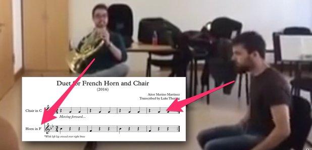 french horn chair duet