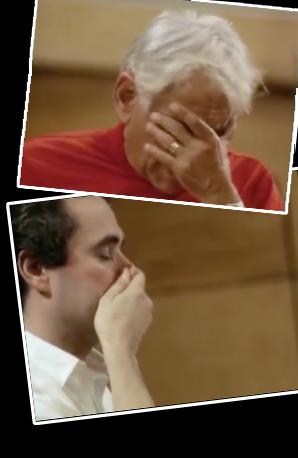 Leonard Bernstein and José Carreras rehearsal