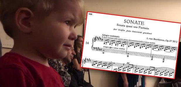 kid cries at beethoven