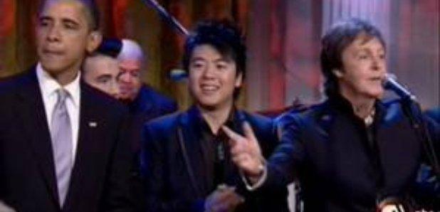 Lang Lang performs for Obama
